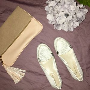 Shoes - SOLESENSEABILITY White and Silver Loafers